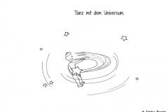 Comicfigur, die mit einer Sternschnuppe tanzt - Copyright: Annika Baacke