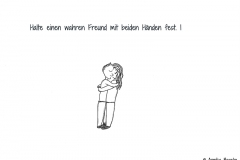 Zwei Comicfiguren in Umarmung - Copyright: Annika Baacke