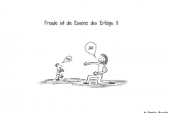 Comic über ein Kleinkind, dass Laufen lernt und von seiner Mutter ermutigt wird - Copyright: Annika Baacke