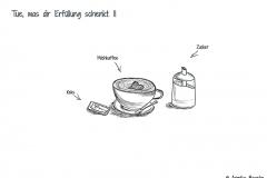 Comic mit Keks, Milchkaffee und Zucker - Copyright: Annika Baacke