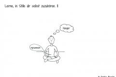Meditierende Comicfigur - Copyright: Annika Baacke
