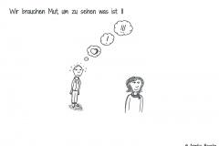 Comicfigur, die realisiert, dass sie verliebt ist - Copyright: Annika Baacke