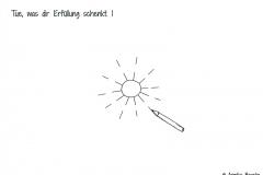 Gezeichnete Sonne mit Stift - Copyright: Annika Baacke
