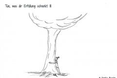Comicfigur, die einen Baum umarmt - Copyright: Annika Baacke
