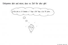 Comicfigur mit Denkblase zur To-Do-Liste - Copyright: Annika Baacke