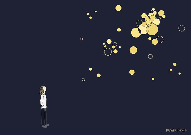 Wie der Herzschlag, nur lauter - Illustration, Copyright: Annika Baacke