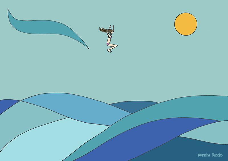 Ein Gefühl von Freiheit - Illustration, Copyright: Annika Baacke