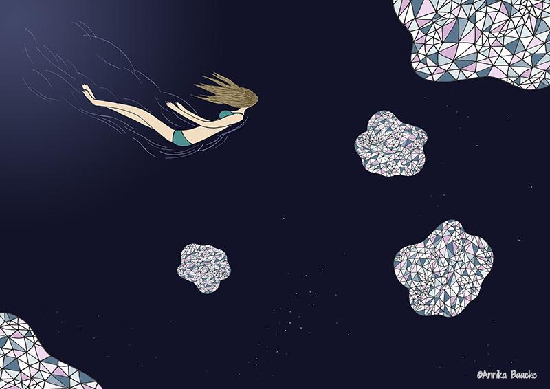 Loslassen könnte so einfach sein - Illustration, Copyright: Annika Baacke