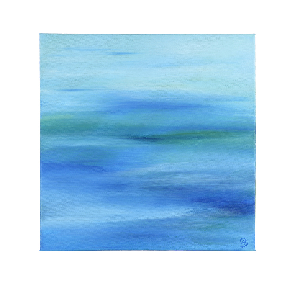 Annika Baacke, Horizonte Nr. 4, Acryl auf Leinwand, 40 x 40 cm, 2016