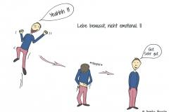 Comicfigur springt vor Freude in die Luft - Copyright: Annika Baacke