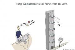 Comicfigur, die wütend und fluchend den Computer aus dem Fenster eines Hochhauses wirft - Copyright: Annika Baacke