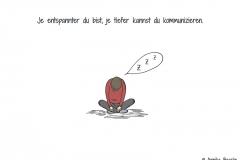 Comicfigur im Schneidersitz schlafend - Copyright: Annika Baacke