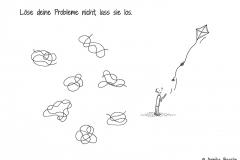 Comic von verschiedenen Knoten und einer Comicfigur, die ihren Drachen fliegen lässt - Copyright: Annika Baacke