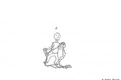 Comicfigur verheddert in einer Lichterkette - Copyright: Annika Baacke