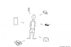 Comicfigur mit Sommerkleidung - Copyright: Annika Baacke