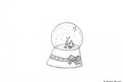 Zeichnung einer Schneekugel - Copyright: Annika Baacke