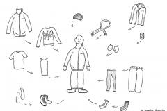 Comicfigur mit Winterkleidung - Copyright: Annika Baacke