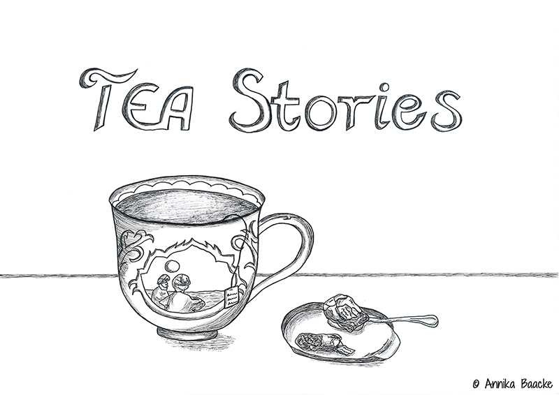"""Comic von einer Teetasse mit dem Titel """"TEA Stories"""""""