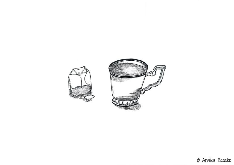 Comic mit Teetasse und Teebeutel - Copyright: Annika Baacke