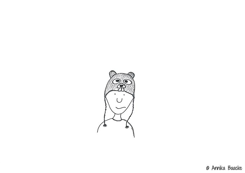 Comicfigur mit Bibermütze auf dem Kopf - Copyright: Annika Baacke